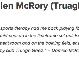 Damien McRory Truagh Gaels
