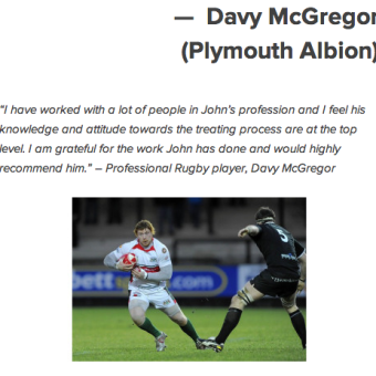 Davy McGregor Plymouth Albion