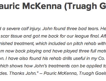 Pauric McKenna Truagh Gaels